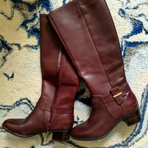Nine West oxblood leather riding boots 5.5M